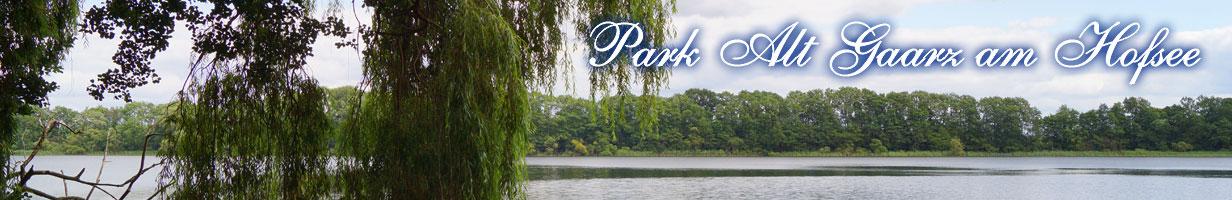 Am Hofsee im Park Alt Gaarz