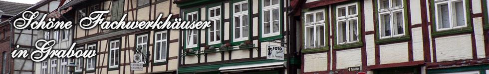Fachwerkhäuserreihe in Grabow