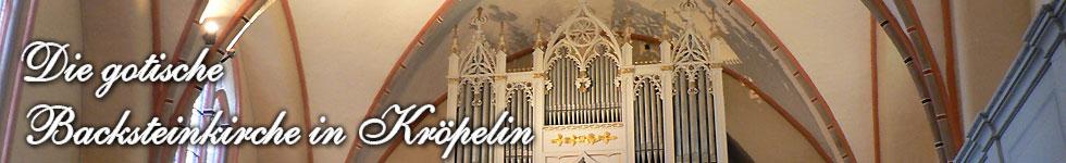 Die gotische Stadtkirche in Kröpelin - Orgel und Empore